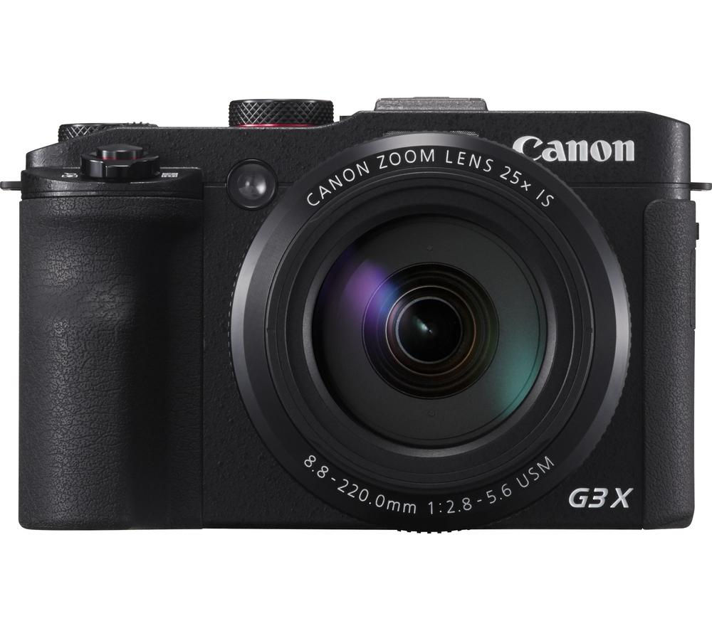 CANON PowerShot G3 X Superzoom Compact Camera - Black + Camera Case - Black + Extreme Plus Class 10 SD Memory Card Twin Pack - 16 GB
