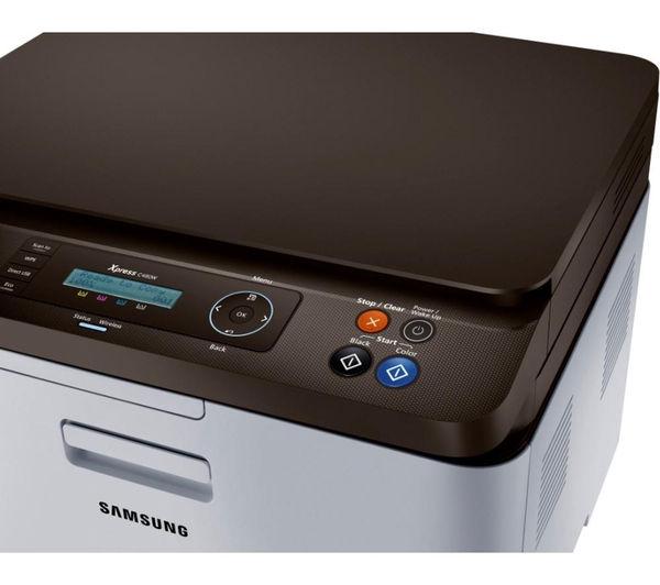 buy samsung xpress c480w all in one wireless laser printer clt k404s black toner cartridge. Black Bedroom Furniture Sets. Home Design Ideas
