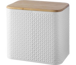 TYPHOON Imprima Diamond Rectangular Bread Bin - White