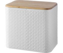 TYPHOON Imprima Diamond Rectangular Bread Bin - White