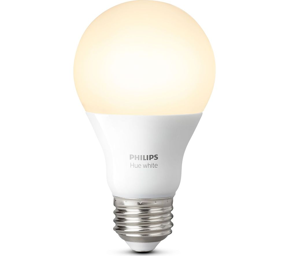 PHILIPS Hue White Smart LED Bulb - E27 + Hue White & Colour Ambience Smart LED Bulb - Spotlight GU10