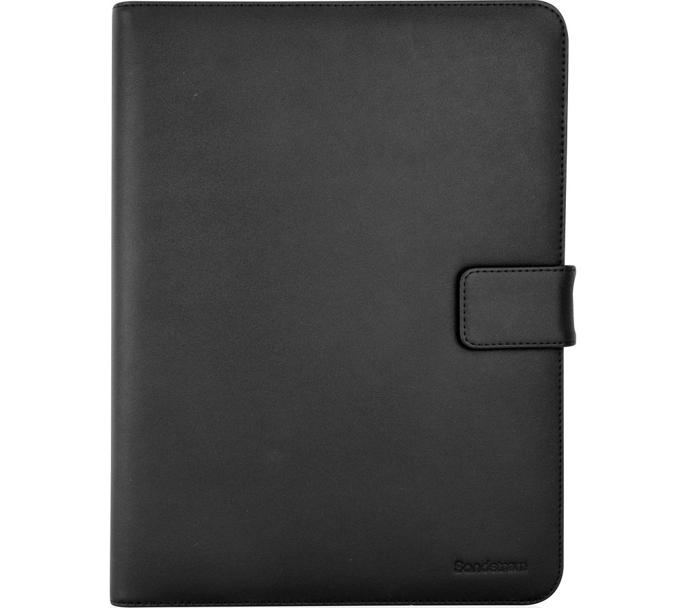 "SANDSTROM S10UTB16 10"" Leather Folio Case - Black"