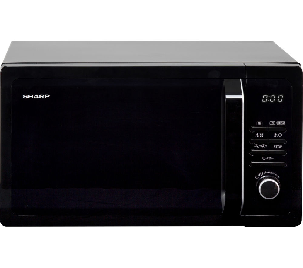 SHARP R374KM Solo Microwave - Black