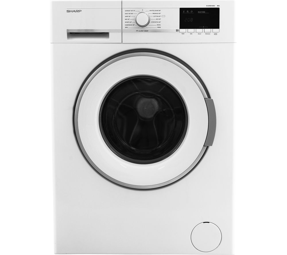 SHARP ES-GFB8144W3 Washing Machine - White