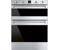SMEG DUSF636X Electric Built-under Double Oven -  Stainless Steel