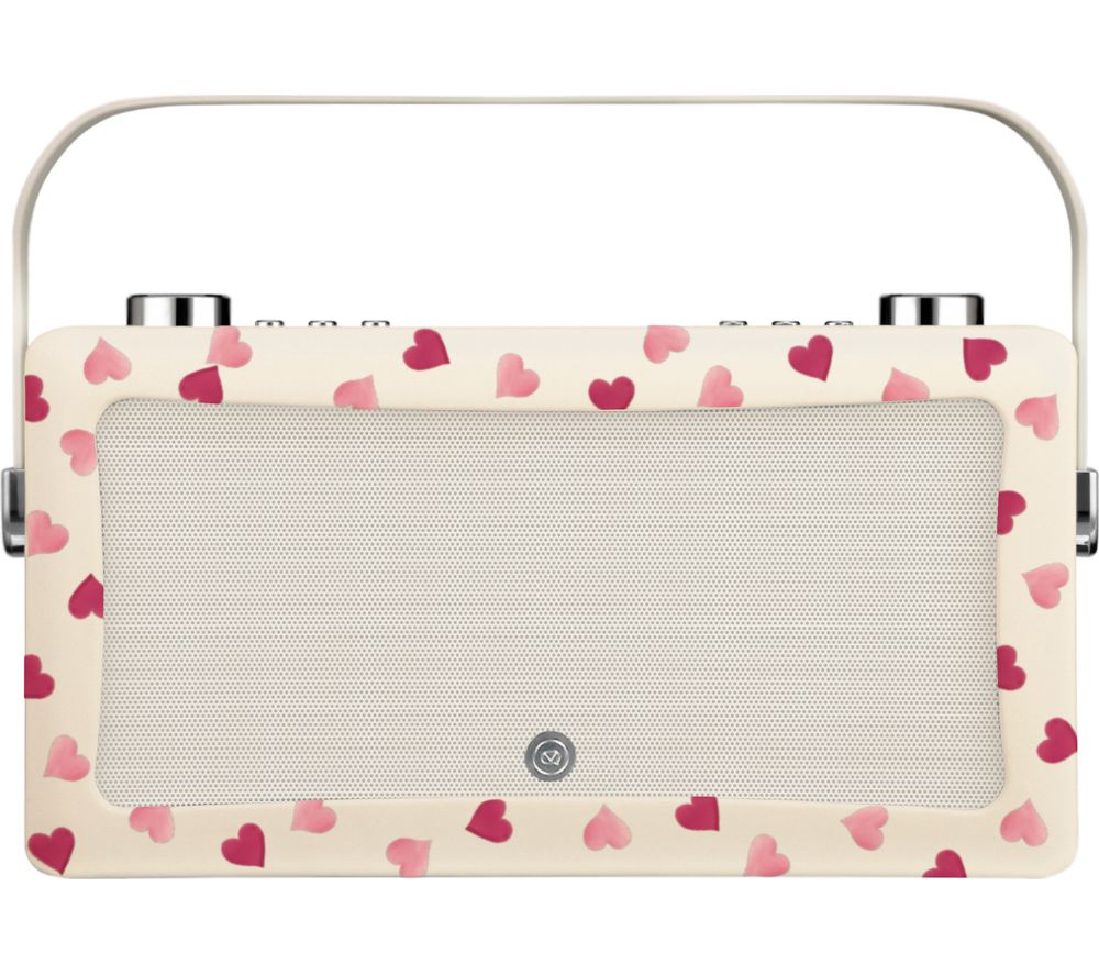 by Emma Bridgewater VQ Hepburn Portable DAB+ Bluetooth Radio - Pink Hearts