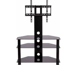 MMT RIO CB32 TV Stand with Bracket - Black Glass
