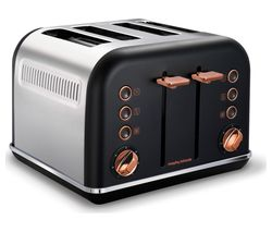 MORPHY RICHARDS Accents 242104 4-Slice Toaster - Black & Rose Gold