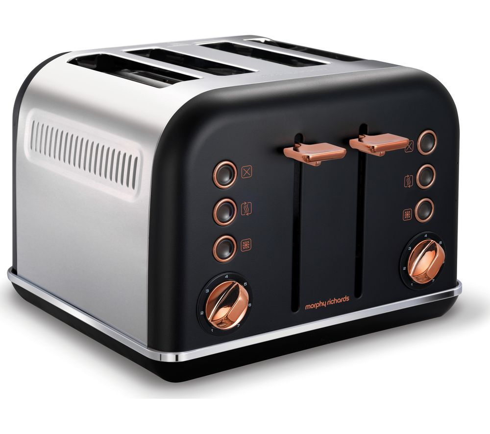 buy morphy richards accents 242104 4 slice toaster black. Black Bedroom Furniture Sets. Home Design Ideas