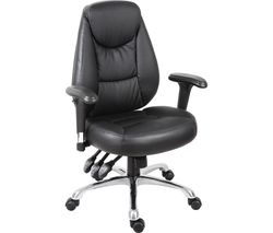 TEKNIK Portland Leather-look Operator Chair - Black