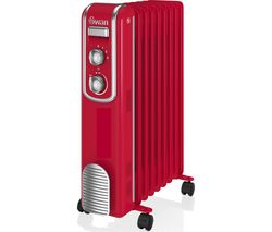 SWAN SH60010RN Oil-Filled Radiator - Red