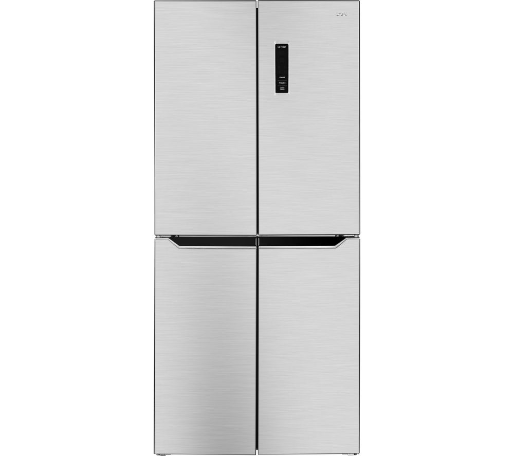 LOGIK LSBS4DX18 Fridge Freezer - Silver
