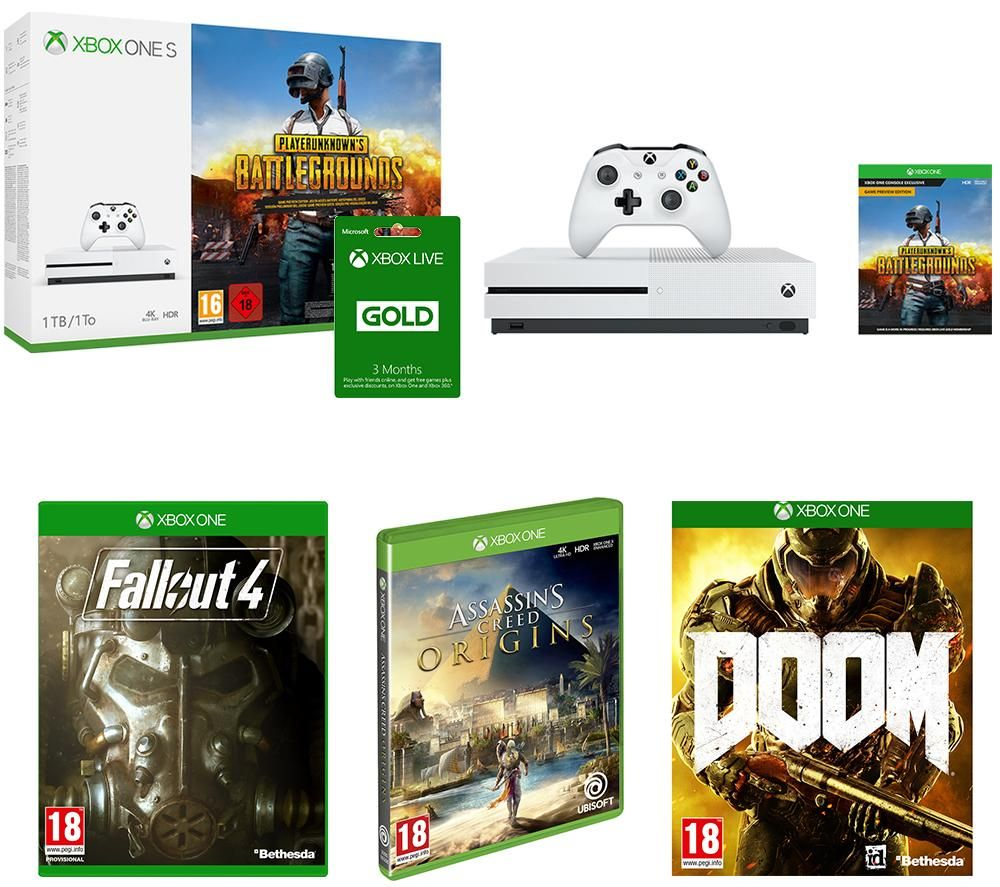 Buy MICROSOFT Xbox One S, Games & LIVE Gold Subscription ...