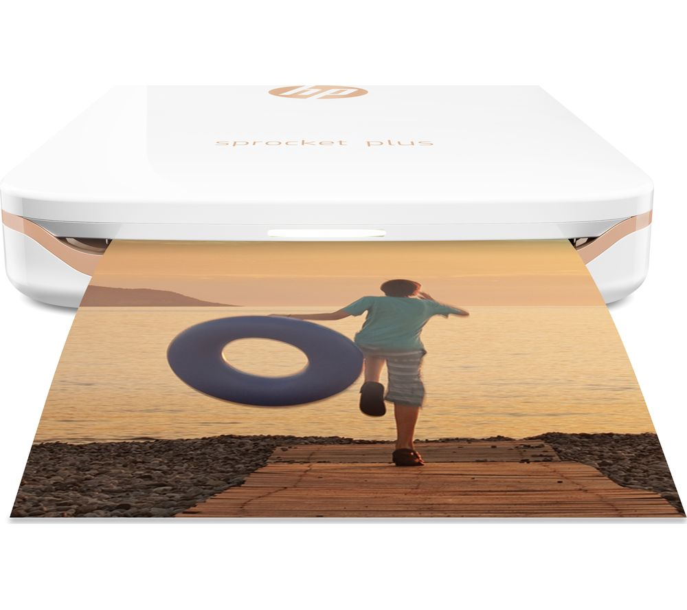 HP Sprocket Plus Photo Printer - White