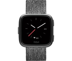 FITBIT Versa Special Edition Smartwatch - Woven Strap, Charcoal