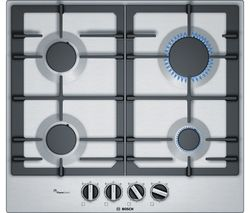BOSCH Serie 6 PCP6A5B90 Gas Hob - Stainless Steel