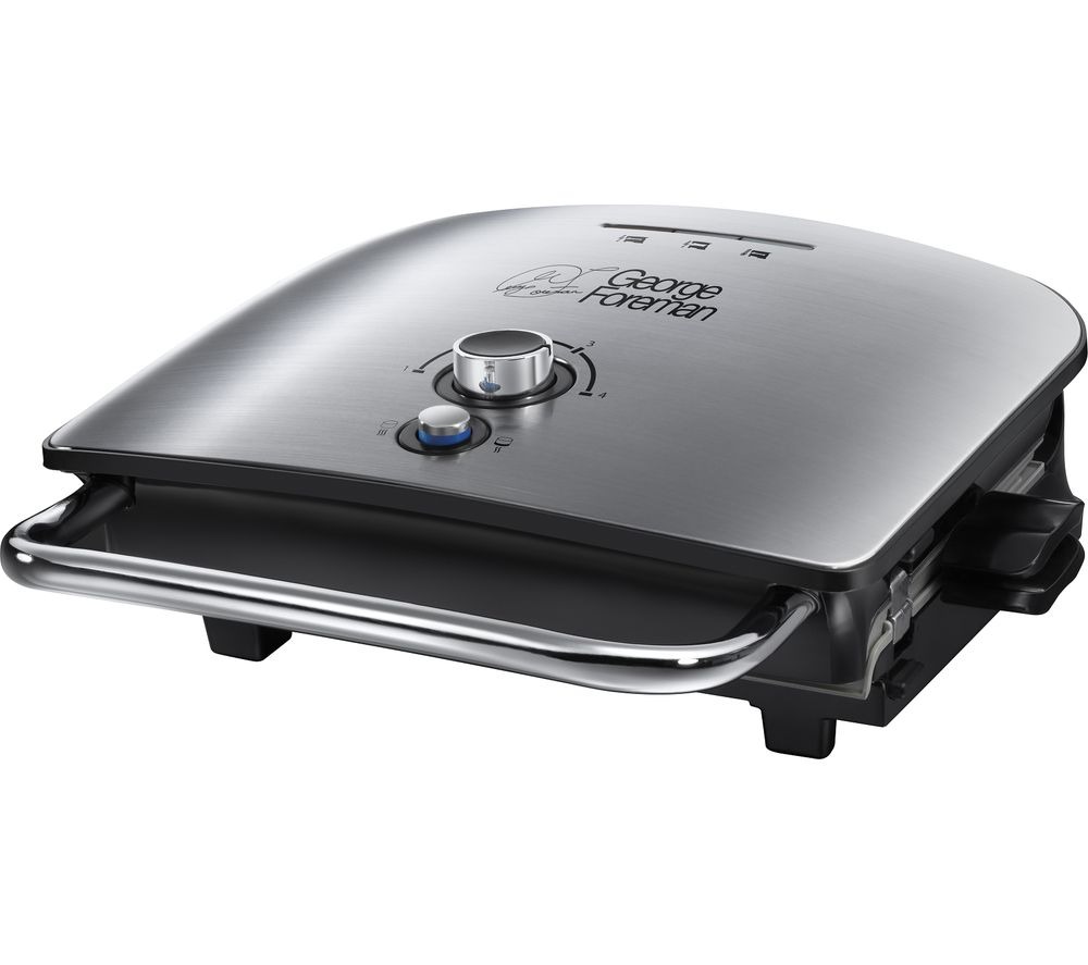 GEORGE FOREMAN 22160 Grill & Melt Advanced Grill - Brushed Stainless Steel, Stainless Steel
