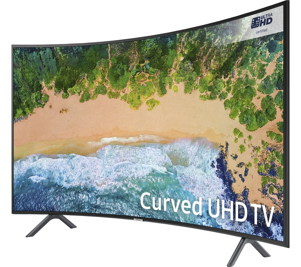 "SAMSUNG UE55NU7300 55"" Smart 4K Ultra HD HDR Curved LED TV + SFLEZ14 Medium to Large Fixed TV Bracket"