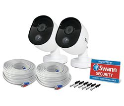 SWANN PRO-1080MSB Bullet IR Full HD 1080p Add-On CCTV Cameras - Twin Pack