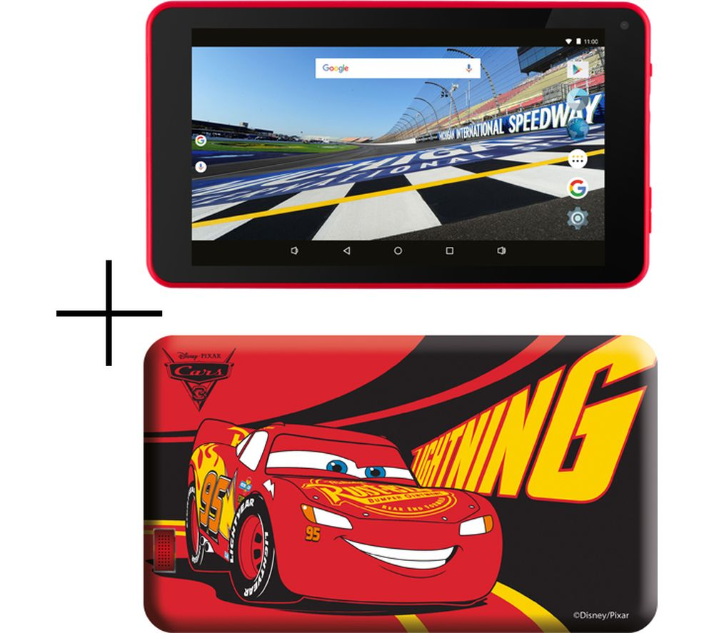 "Image of ESTAR 7"" Tablet & Case - 8 GB, Cars, Red"