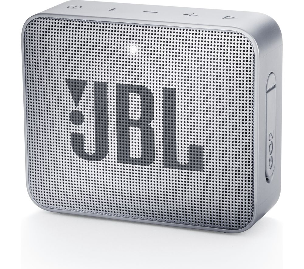 JBL GO2 Portable Bluetooth Speaker - Silver, Silver