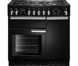 Professional+ 90 Dual Fuel Range Cooker - Black