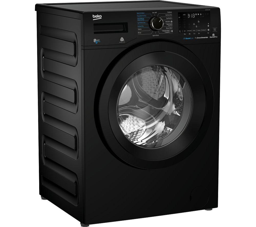 BEKO Pro WDX850130B Bluetooth 8 kg Washer Dryer - Black
