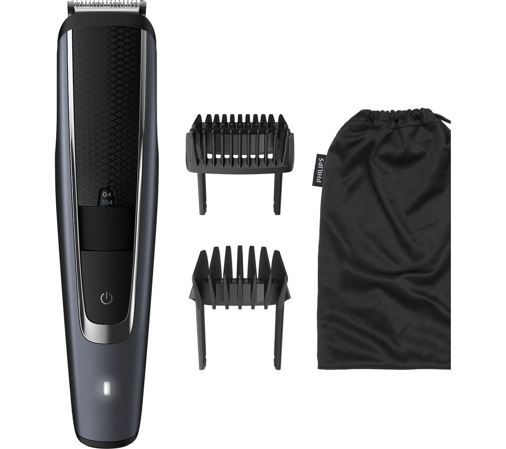 PHILIPS Series 5000 BT5502/13 Beard Trimmer - Black & Grey, Black