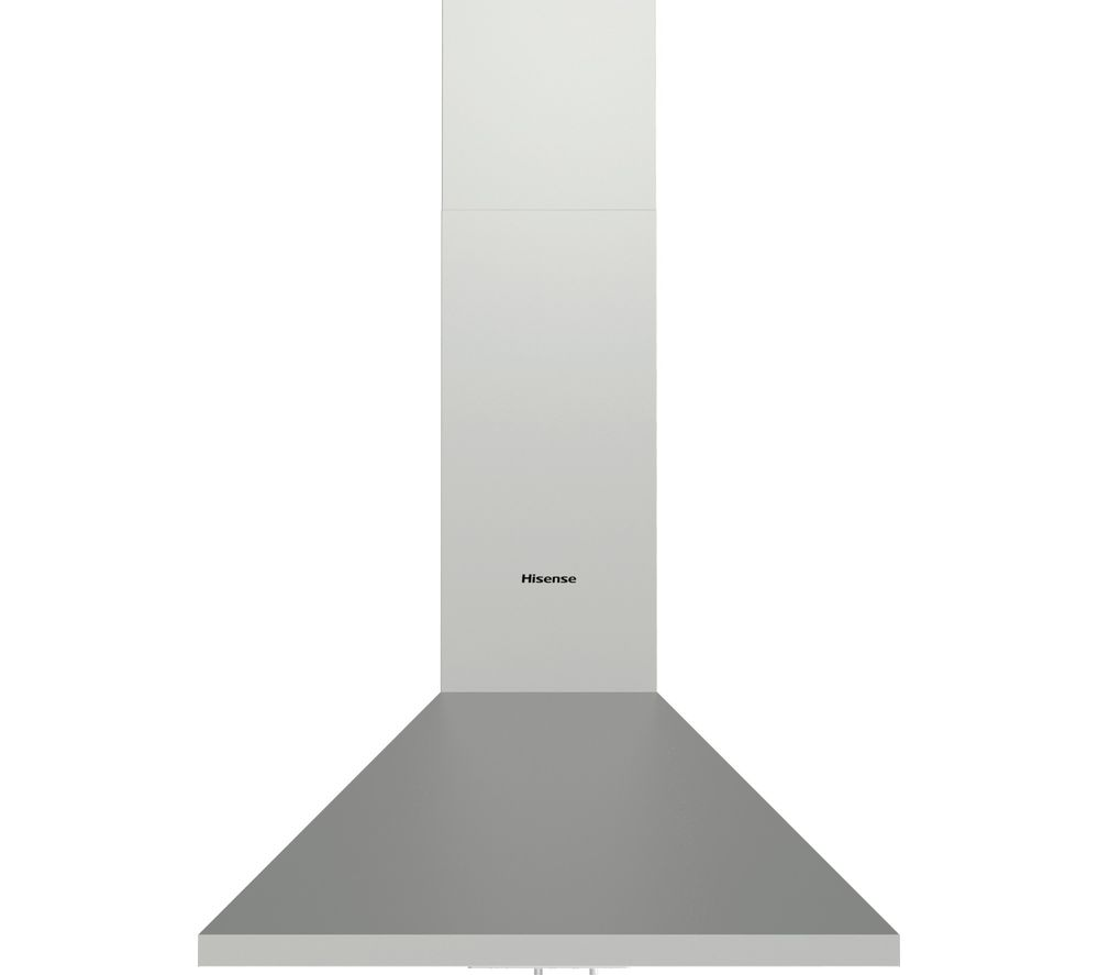 CH6C4AXUK Chimney Cooker Hood - Stainless Steel, Stainless Steel