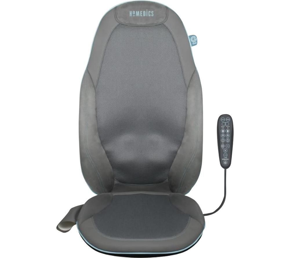 Image of GSM-800H-GB Gel Shiatsu Back Massager with Heat - Grey, Grey