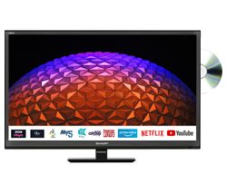 "SHARP 1T-C24BE0KR1FB 24"" Smart HD Ready LED TV with Built-in DVD Player"