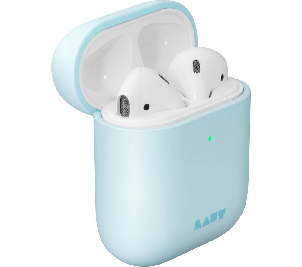 Image of LAUT Huex Pastels AirPods Case Cover - Baby Blue, Blue