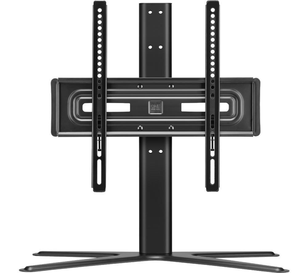Image of ONE FOR ALL Solid WM 4471 314 mm TV Stand with Bracket - Black, Black