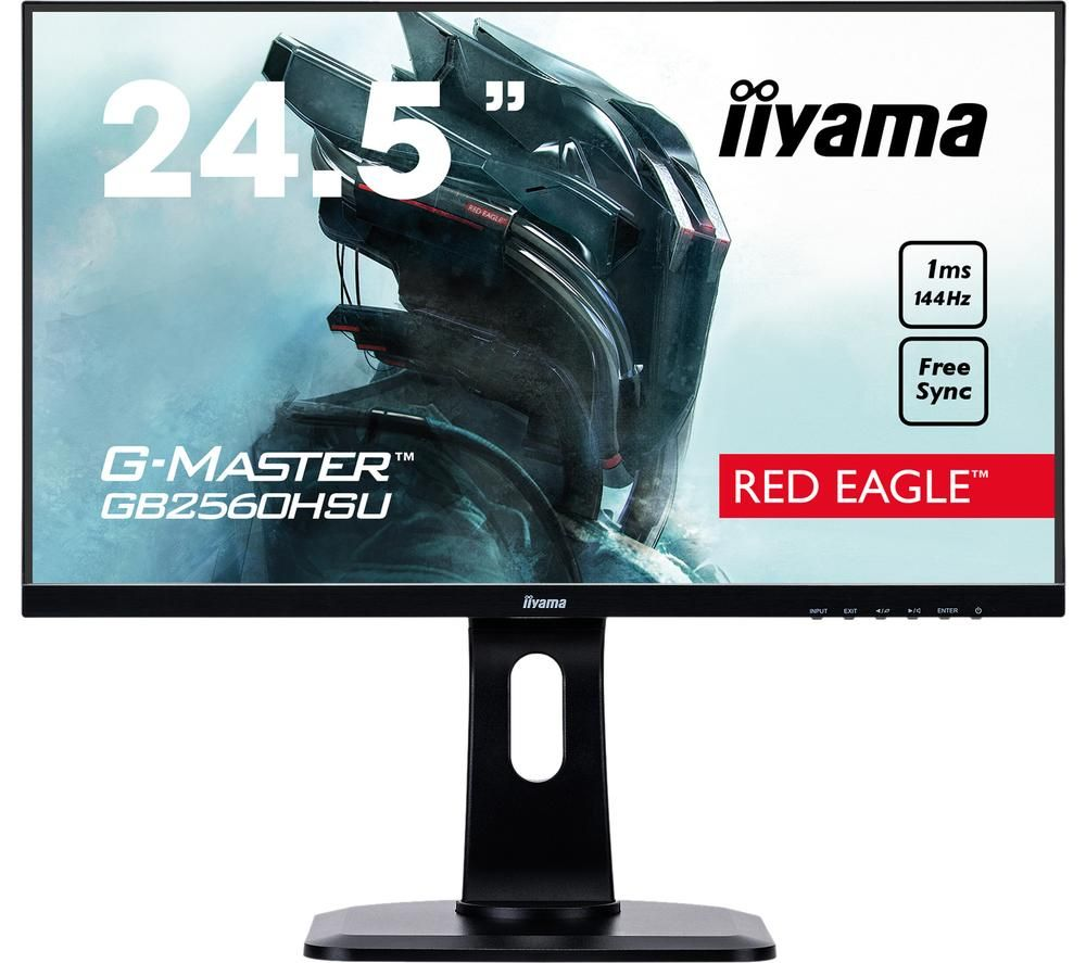 "IIYAMA G-MASTER Red Eagle GB2560 Full HD 24.5"" TN LCD Gaming Monitor - Black"