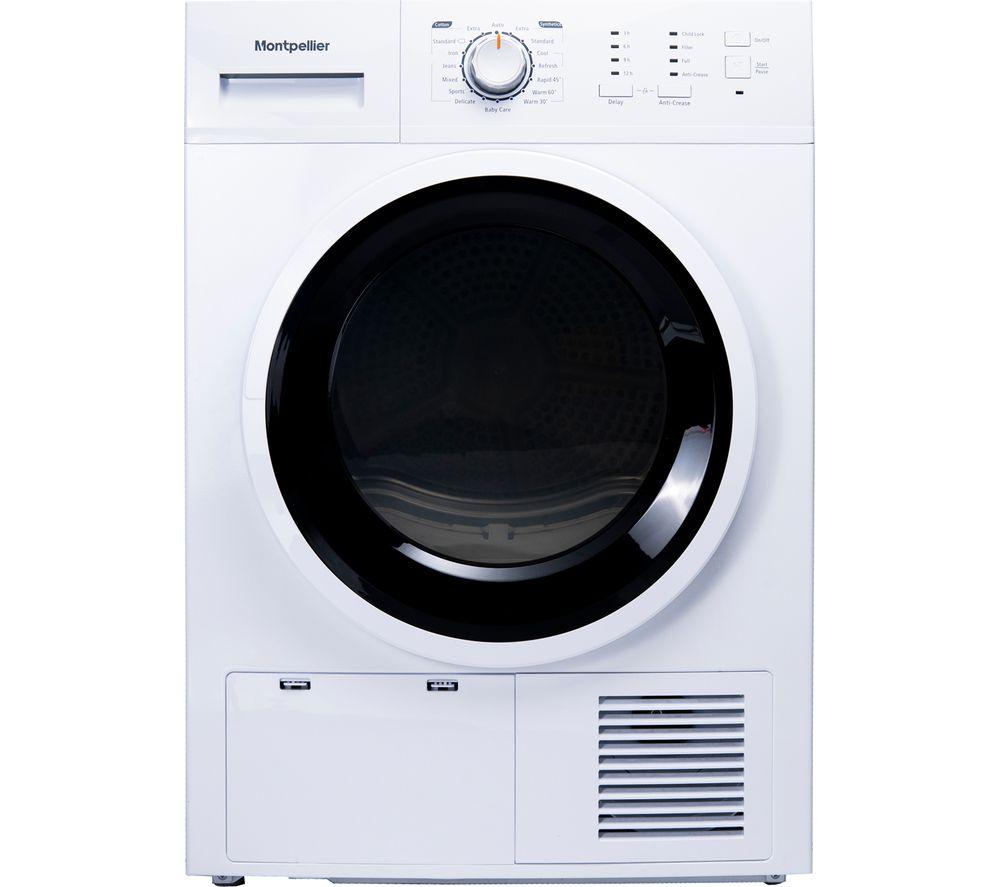 MONTPELLIER MCD8W 8 kg Condenser Tumble Dryer - White, White