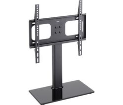 TT44F 430 mm TV Stand with Bracket - Black Glass