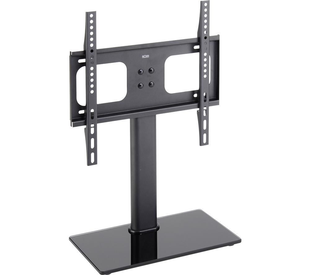 TTAP TT44F 430 mm TV Stand with Bracket - Black Glass, Black
