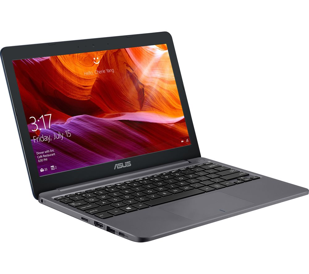 "ASUS E203 11.6"" Laptop - Intel® Celeron®, 64 GB eMMC, Grey"