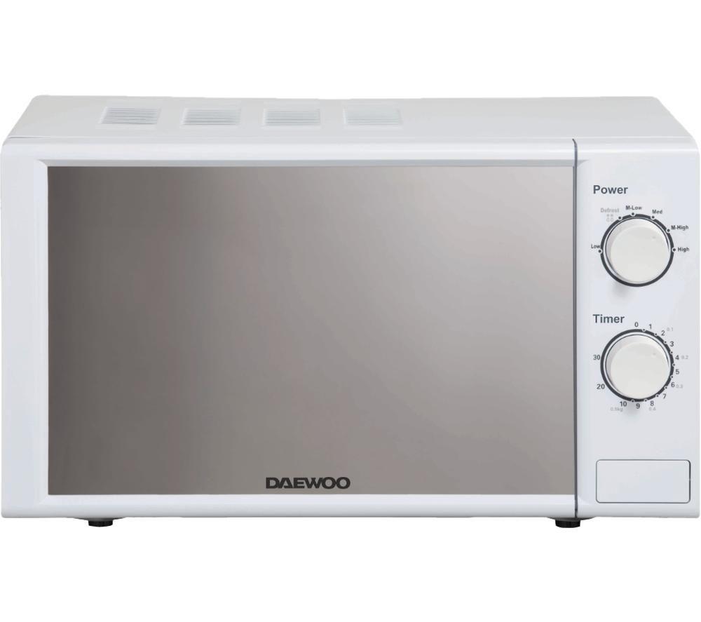 DAEWOO SDA2084GE Compact Solo Microwave - White, White