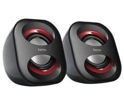 Sonic Mobil 183 Laptop Speakers - Black & Red