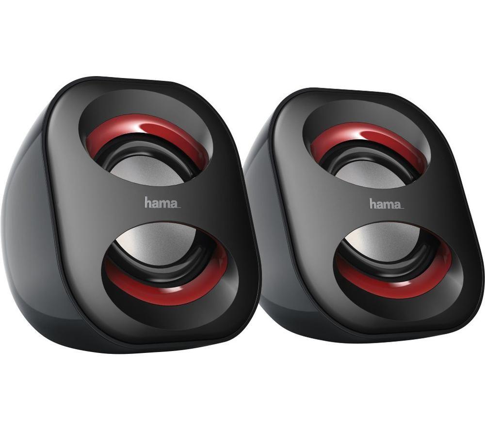 Image of Hama Sonic Mobil 183 2.0 PC speaker Corded 3 W Black, Red