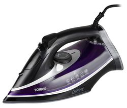 TOWER CeraGlide Ultra Speed T22013PR Steam Iron - Purple Best Price, Cheapest Prices