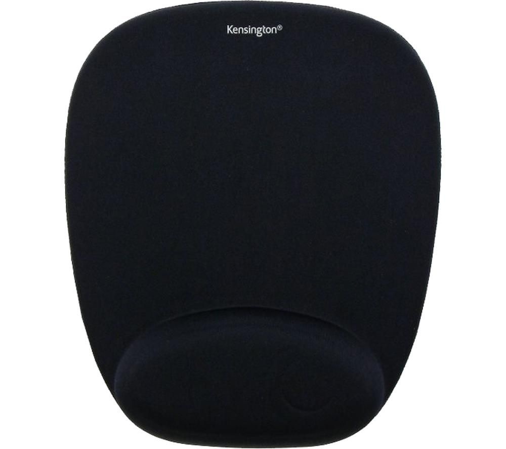 Image of Kensington 62384 Mouse pad Ergonomic Black (W x H x D) 210 x 25 x 250 mm