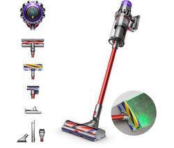 Outsize Absolute Cordless Vacuum Cleaner - Red & Nickel
