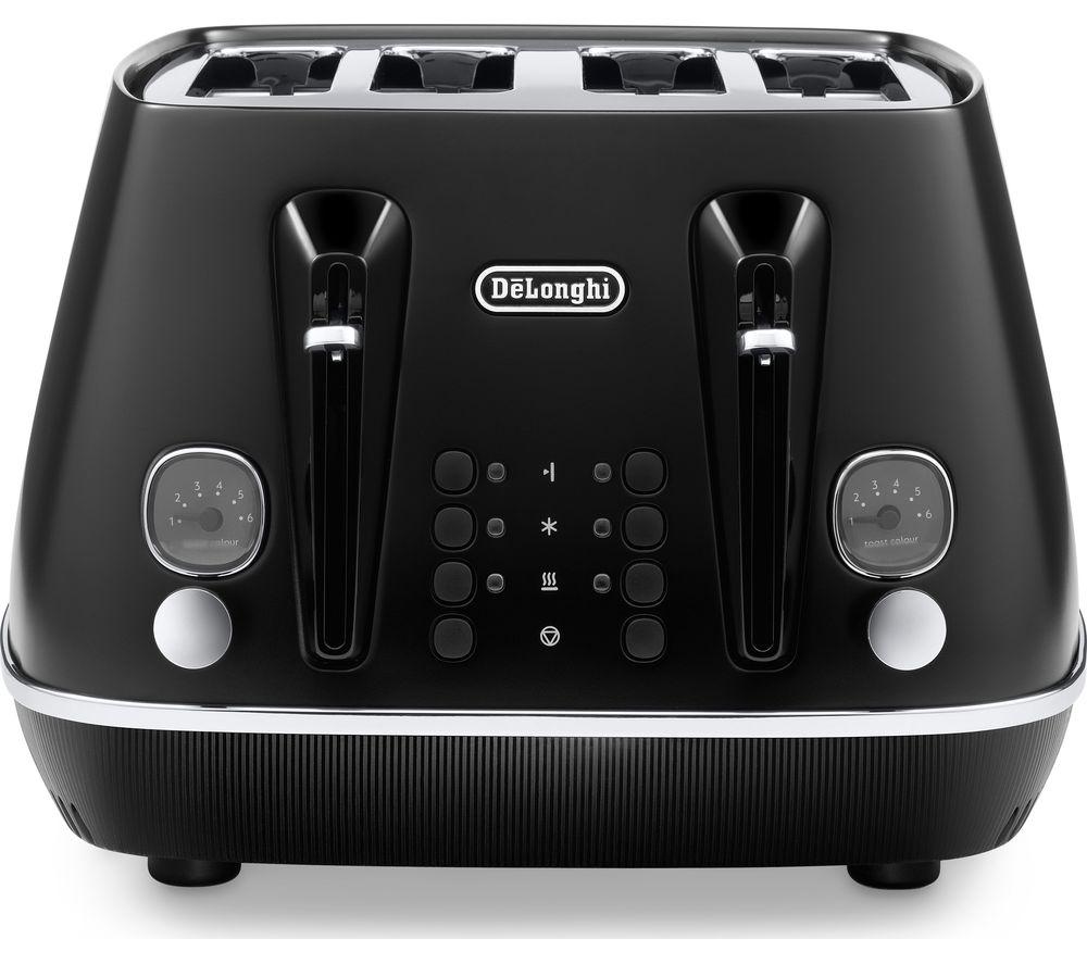 DELONGHI Distinta X CTIN4003.BK 4-Slice Toaster - Black, Black
