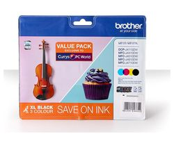 BROTHER LC127XL Black & Tri-Colour Ink Cartridge - Multipack