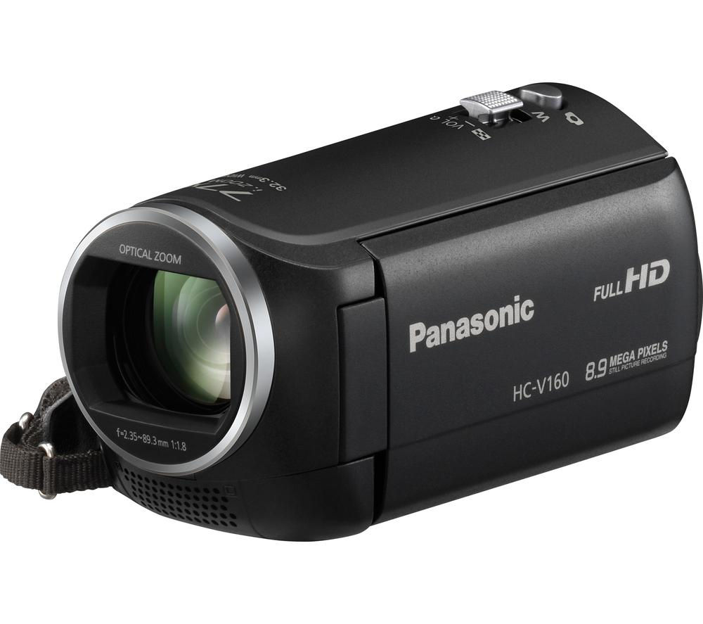 PANASONIC HC-V160EB-K Camcorder - Black + Ultra Performance Class 10 microSD Memory Card - 32 GB + Adventura SH110 ll Camcorder Case - Black