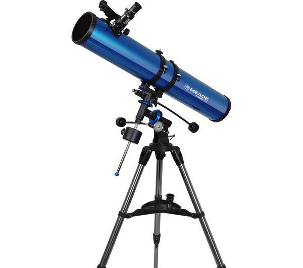 Image of MEADE Polaris 114 EQ Reflector Telescope - Blue