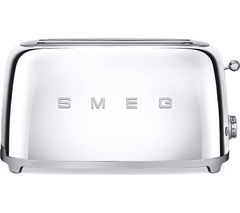 SMEG TSF02SSUK 4-Slice Toaster - Chrome