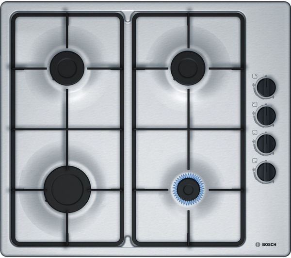Image of BOSCH PBP6B5B60 Gas Hob - Stainless Steel